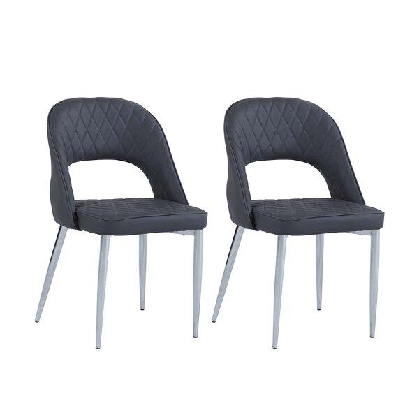 Fidelis Open Back Upholstered Dining Chair (Set of 2) by Orren Ellis