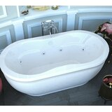 Vivara 71.25 x 35.87 Oval Freestanding Air & Whirlpool Water Jetted Bathtub bySpa Escapes