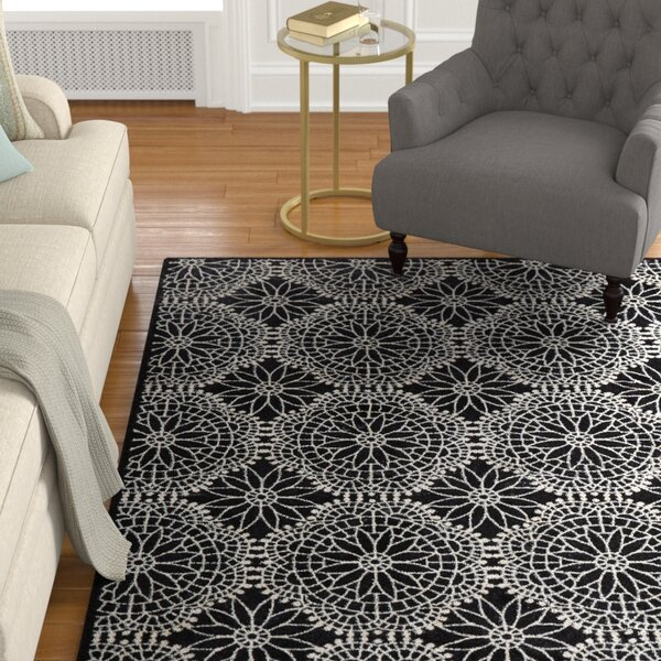 Eagleview Black Area Rug by Alcott Hill