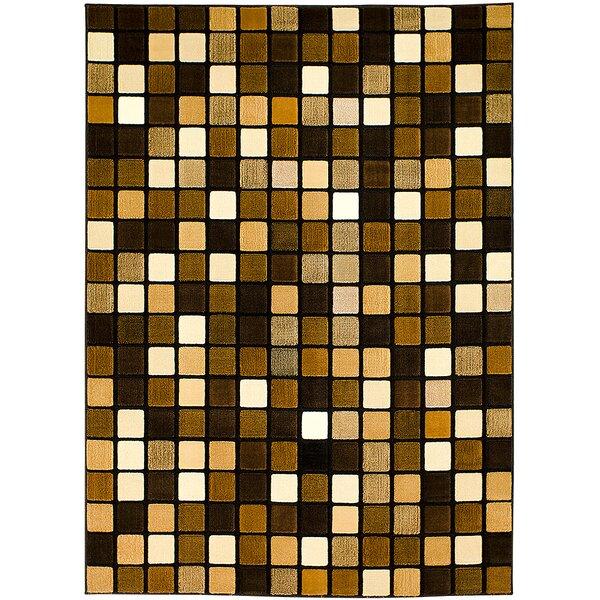 Black/Brown Area Rug by AllStar Rugs