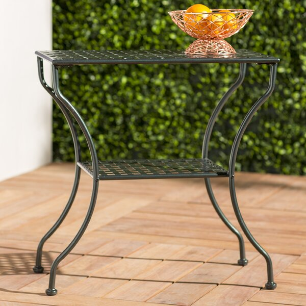 Rosana Iron 2-Tier Patio Table by Mistana