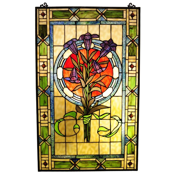 Beley Tulips Window Panel by Astoria Grand