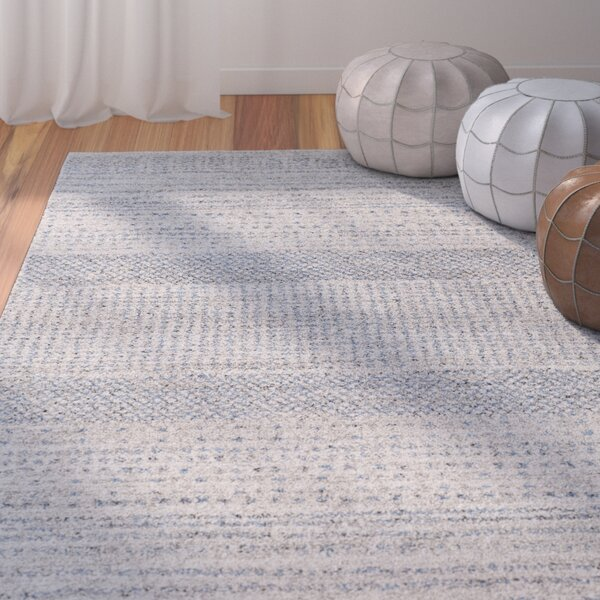 Ponce Medium Gray/Bright Blue Area Rug by Mistana