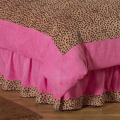 Cheetah Pink Queen Bed Skirt by Sweet Jojo Designs
