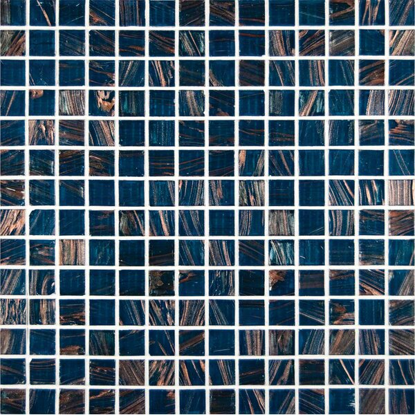 0.75'' x 0.75'' Glass Mosaic Tile in Blue Iridescent by MSI