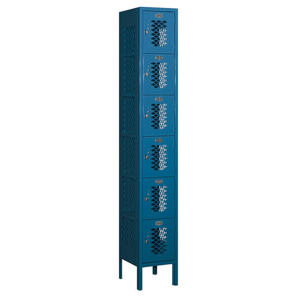 6 Tier 1 Wide Employee Locker by Salsbury Industries