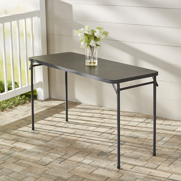 DeMotte Metal Dining Table by Charlton Home