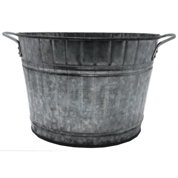 Rooney Retro Harvest Tub Galvanized Pot Planter by August Grove