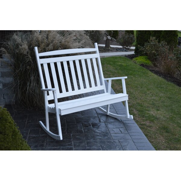 Austyn Classic Porch Rocking Bench by Loon Peak