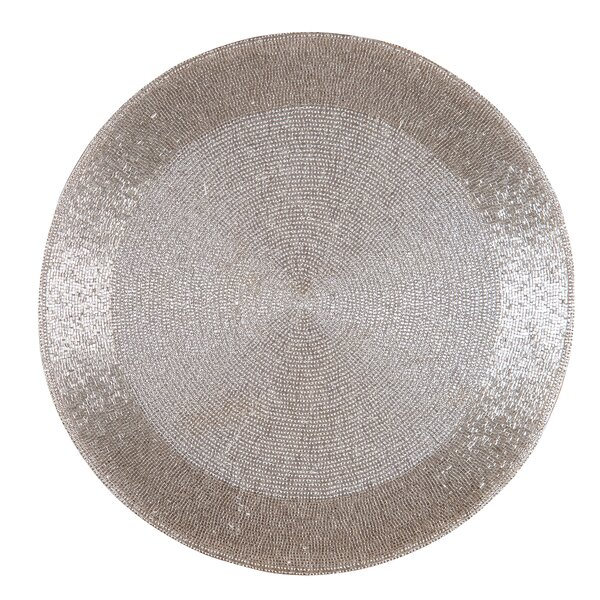 Georges Beaded Round Mat (Set of 4) by Willa Arlo Interiors