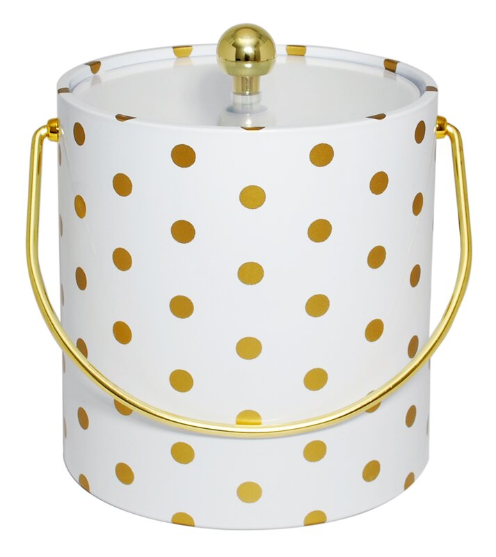 Champney Polka Dot Ice Bucket