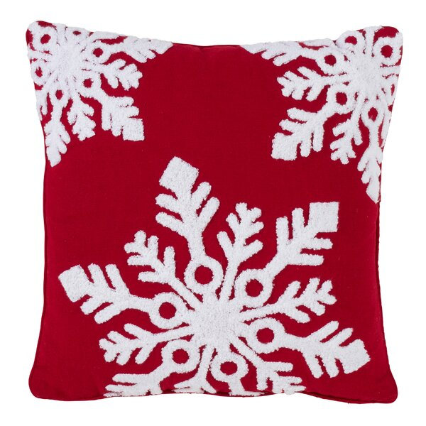 Linder Snowflake Throw Pillow by The Holiday Aisle