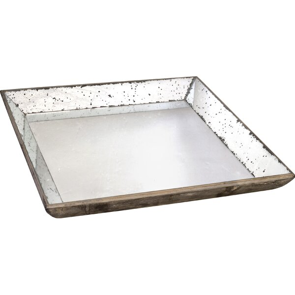 Midlothian Square Glass Serving Tray by Greyleigh