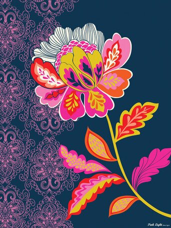 Graphic Flower on Canvas Art by Oopsy Daisy