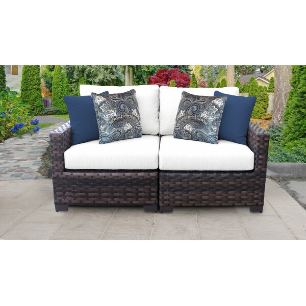 River Brook Loveseat with Cushions by kathy ireland Homes & Gardens by TK Classics