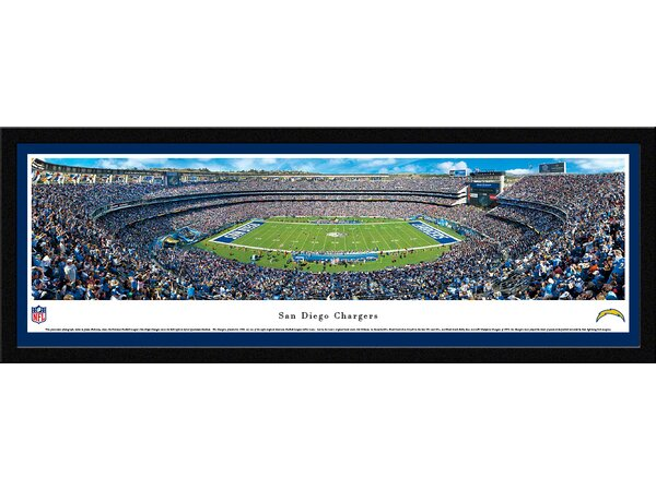 NFL San Diego Chargers by James Blakeway Framed Photographic Print by Blakeway Worldwide Panoramas, Inc