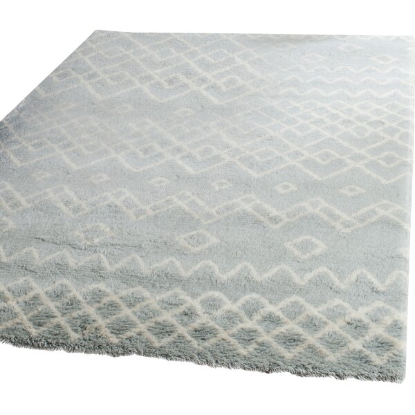 Cosima Hand-Knotted Blue/Ivory Area Rug by Bungalow Rose