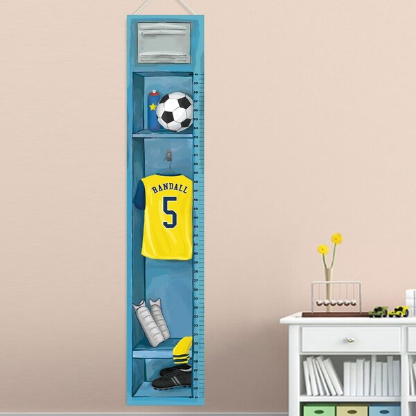 Bosco Soccer Growth Chart Personalized Wall Hanging by Zoomie Kids