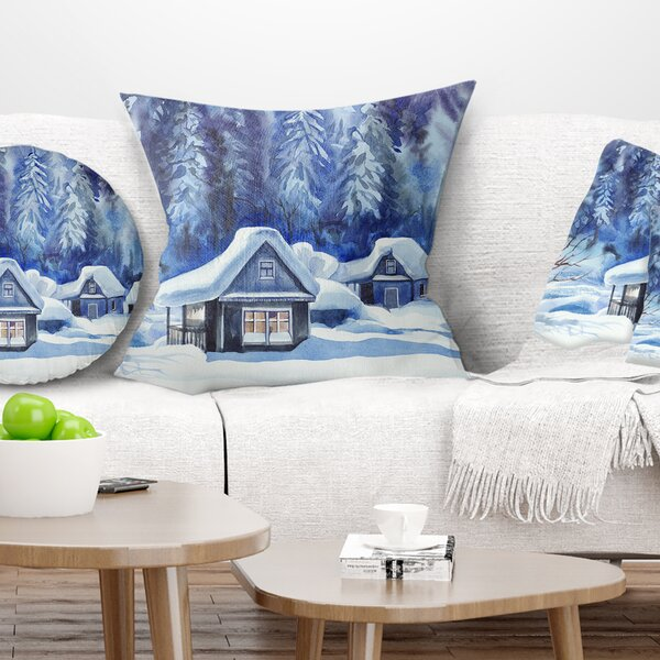 Landscape Printed Winter Pillow by East Urban Home