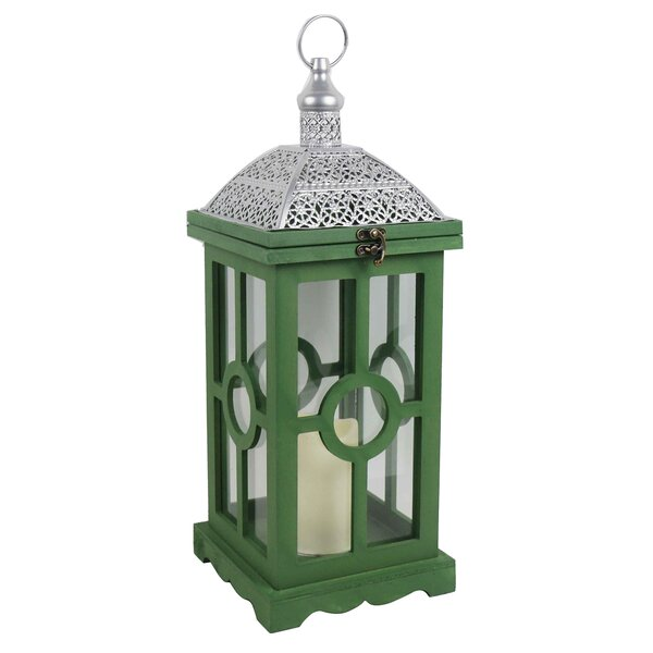 Wood Lantern by Bungalow Rose