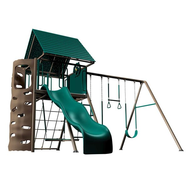 Earthtone Hard Top A-Frame Swing Set by Lifetime