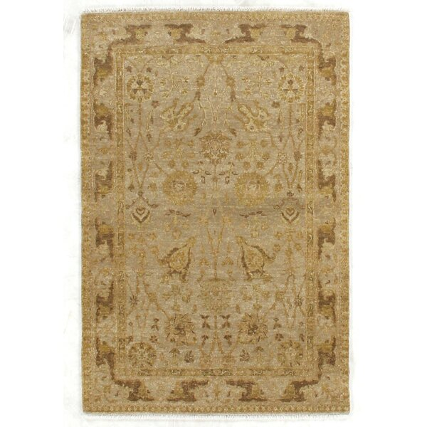 Ziegler Hand-Knotted Wool Beige Area Rug by Exquisite Rugs