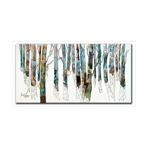Birch I by Cheri Greer Graphic Art on Wrapped Canvas by Hadley House Co