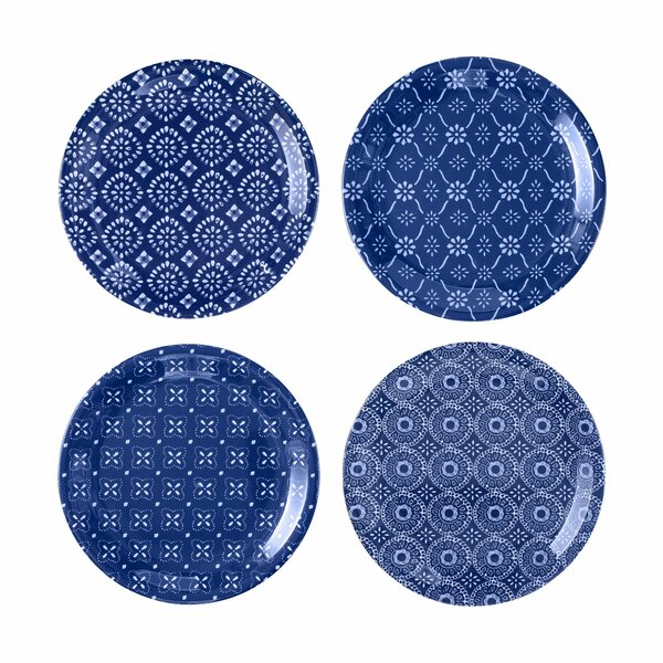 Paisleigh 4 Piece Melamine Appetizer Plate Set by Bungalow Rose