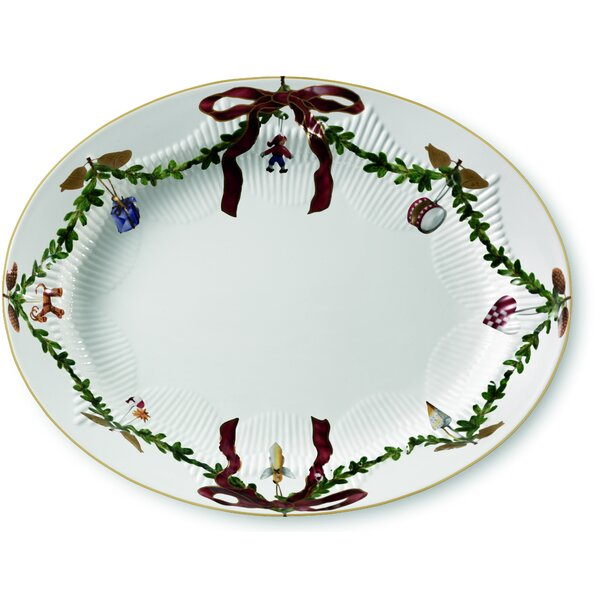 Star Fluted Christmas Oval Platter by Royal Copenh
