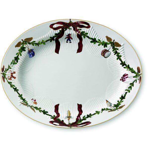 Star Fluted Christmas Oval Platter by Royal Copenhagen