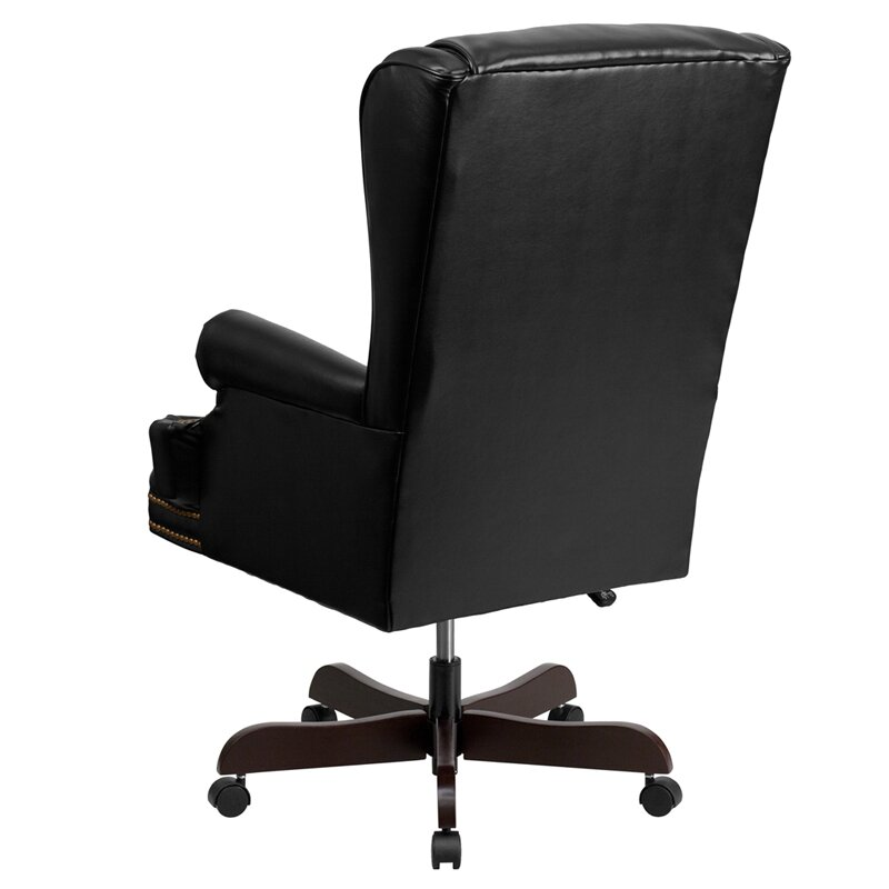 white leather executive chair. Brassie Leather Executive Chair White
