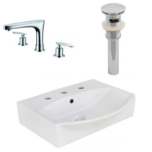 Affordable Price Ceramic 19.5 Bathroom Sink with Faucet and Overflow By Royal Purple Bath Kitchen