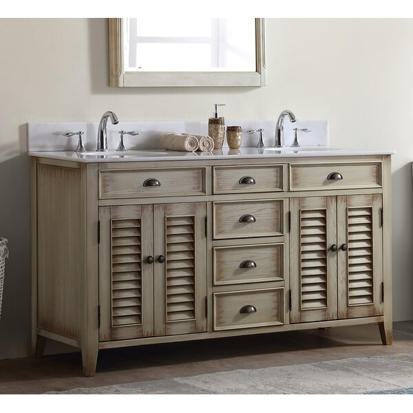 Foret 60 Double Bathroom Vanity Set by Lark Manor
