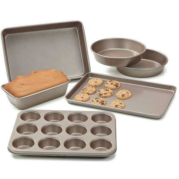 Heavy Gauge Nonstick 6 Piece Bakeware Set by Cook N Home