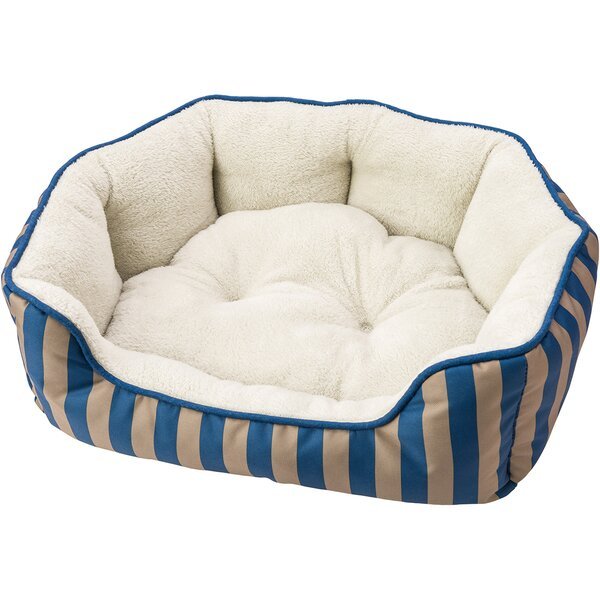 Sleep Zone Cabana Step in Scallop Shape Bolster Dog Bed by Ethical Pet