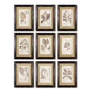 9 Piece Framed Graphic Art Set (Set of 9) by One Allium Way