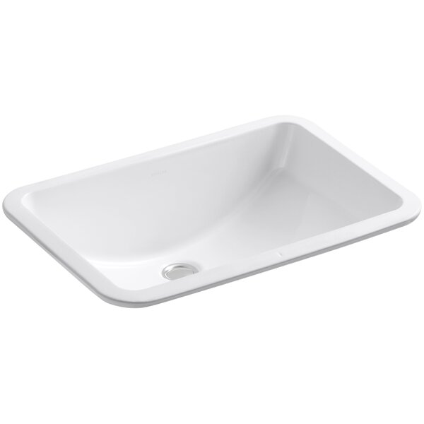 Ladena Ceramic Rectangular Undermount Bathroom Sink by Kohler