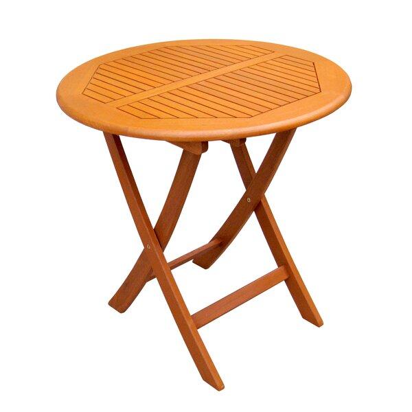 Sabbattus Folding Wooden Side Table by Breakwater Bay