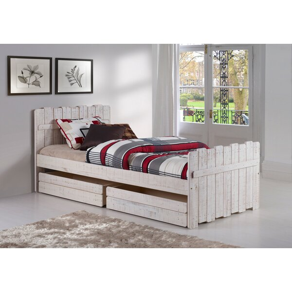 Wander Twin Panel Bed with Drawers by Harriet Bee