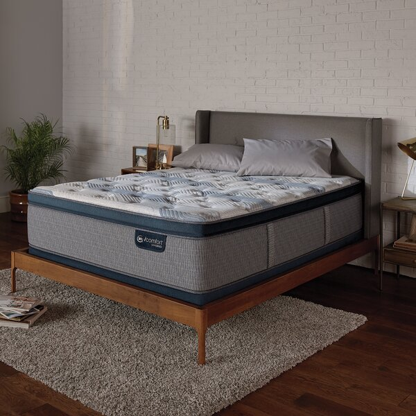 iComfort 300 14 Plush Pillow Top Hybrid Mattress and Box Spring by Serta