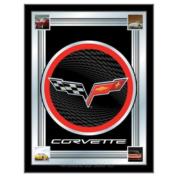 Corvette - C6 Logo Mirror Framed Graphic Art by Holland Bar Stool