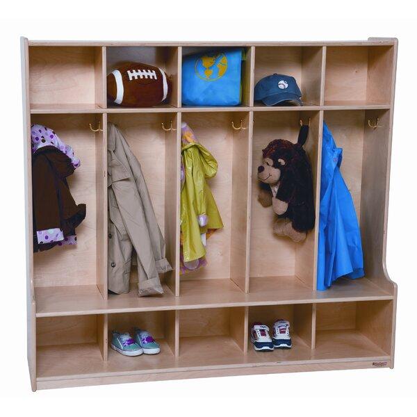 3 Tier 5 Wide Coat Locker by Wood Designs