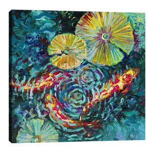 Pesci in Shallows by Iris Scott Painting Print on Wrapped Canvas by Jaxson Rea