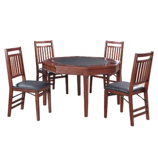 Reviews 4 Piece Broadway Poker Table Set By Hathaway Games