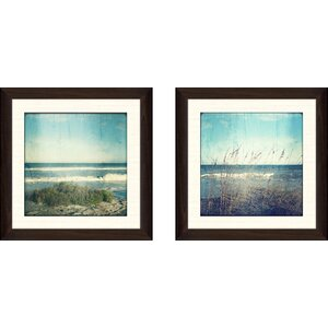 'Edgewater II' 2 Piece Framed Photographic Print Set by Highland Dunes