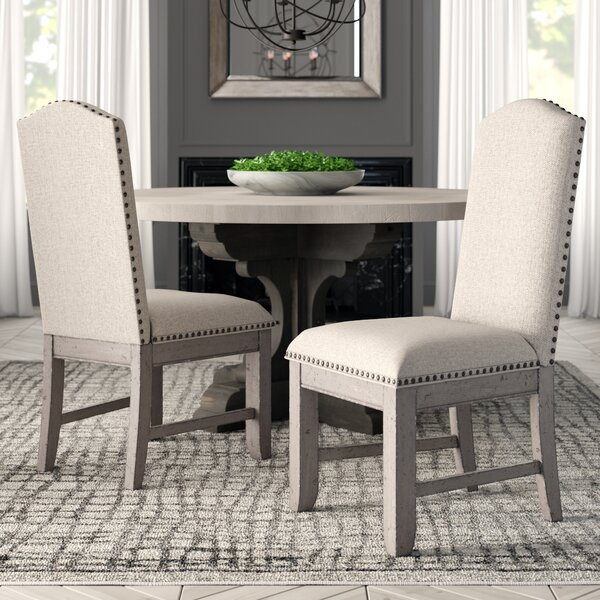 Devers Upholstered Dining Chair (Set of 2) by Greyleigh