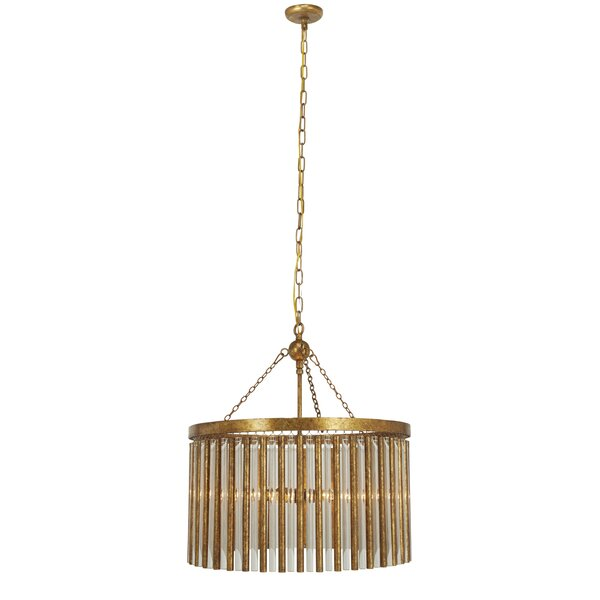 Mcclanahan 6-Light Unique / Statement Drum Chandelier by Mercer41 Mercer41