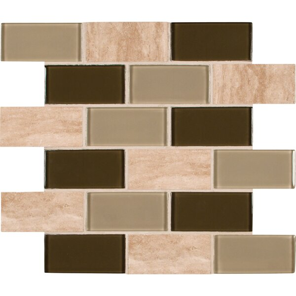 2 x 4 Glass and Stone Subway Tile in Beige by MSI