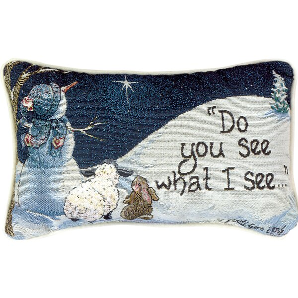 Do You See What I See - Evans Word Lumbar Pillow by Manual Woodworkers & Weavers