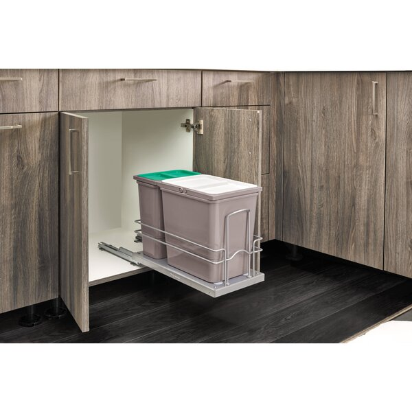 Sink Base Pullout Waste Container Kitchen Organizer by Rev-A-Shelf